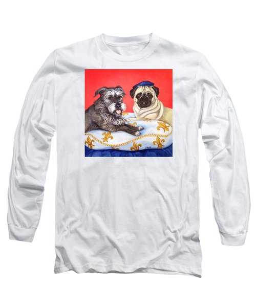 Long Sleeve T-Shirt featuring the painting French Friends by Laura Aceto