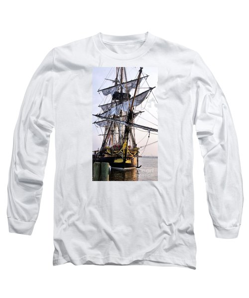 French Tall Ship Hermione  Long Sleeve T-Shirt by John S