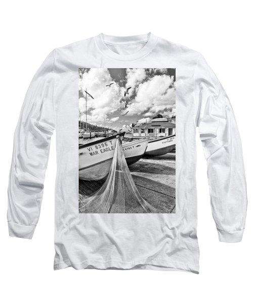 Frenchtown Fishing Boats 1 Long Sleeve T-Shirt