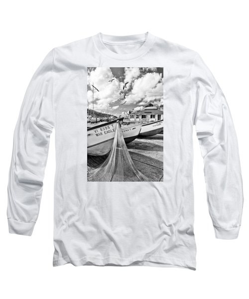 Frenchtown Fishing Boats 1 Long Sleeve T-Shirt