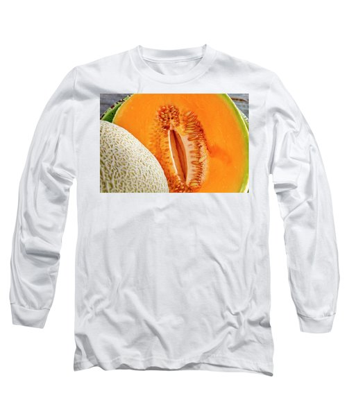 Fresh Cantaloupe Melon Long Sleeve T-Shirt by Teri Virbickis