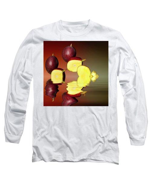 Fresh Ripe Mango Fruits Long Sleeve T-Shirt by David French