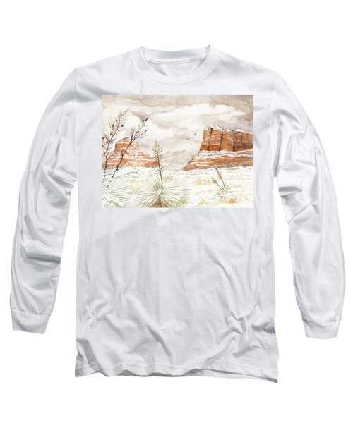 Fresh Snow On Bell Rock Long Sleeve T-Shirt