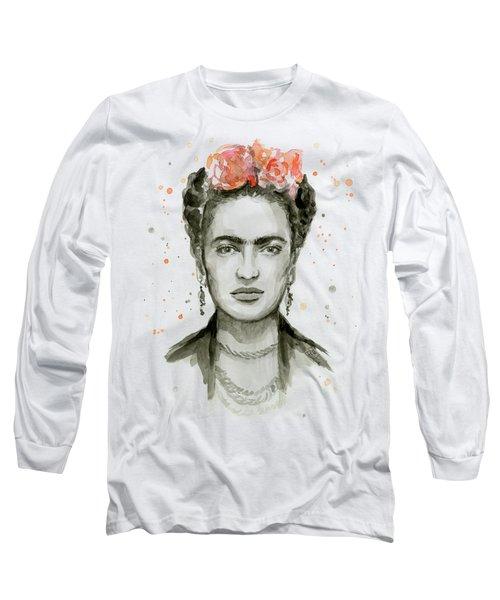 Frida Kahlo Portrait Long Sleeve T-Shirt