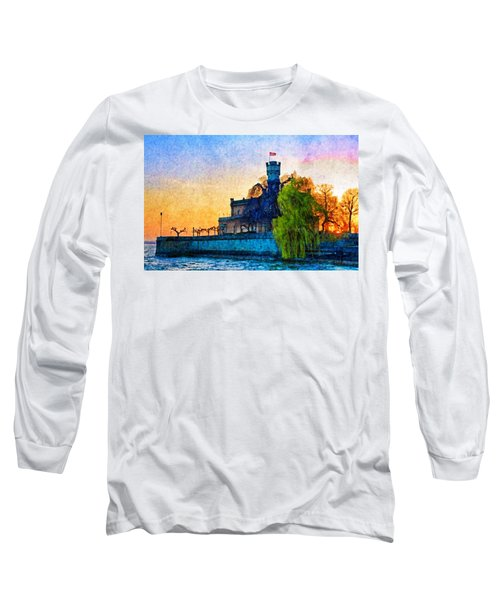 Friedrichshafen Castle At Sunset Long Sleeve T-Shirt