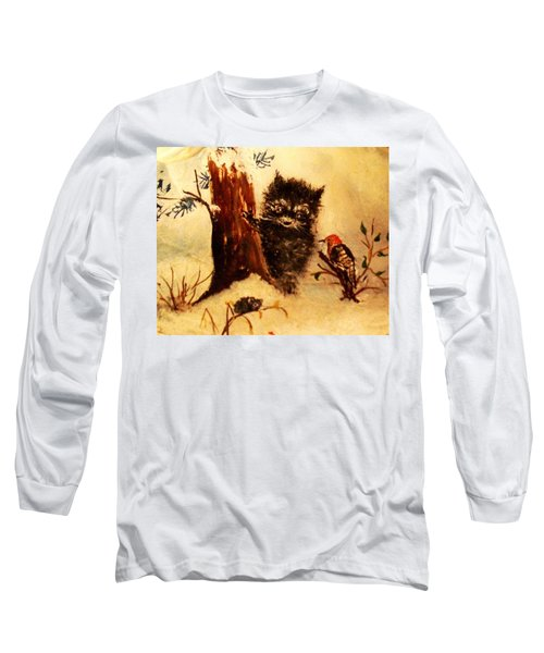Long Sleeve T-Shirt featuring the painting Friends Forever by Hazel Holland