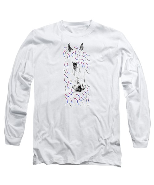 Friesian Horse Nobility Long Sleeve T-Shirt by Kelli Swan