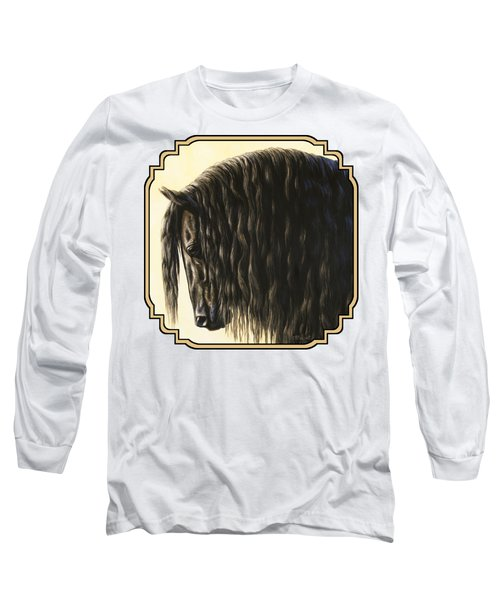 Friesian Horse Phone Case Long Sleeve T-Shirt