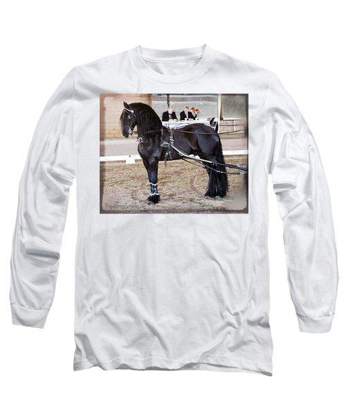 Friesian Stallion Under Harness Long Sleeve T-Shirt
