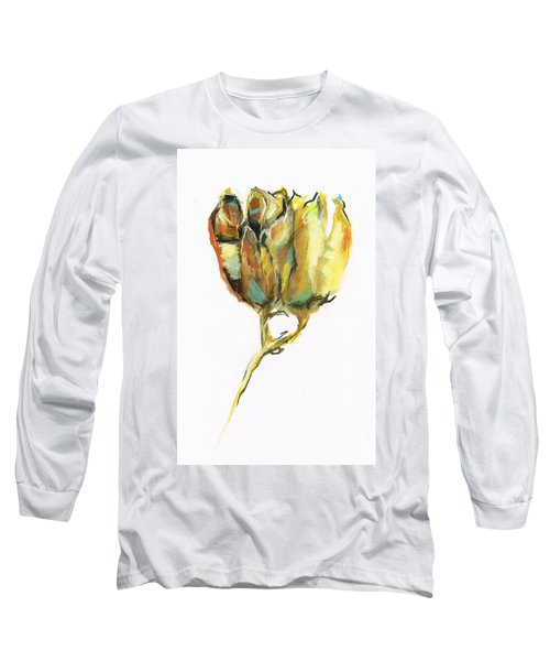 Long Sleeve T-Shirt featuring the painting Fritillaria by Frances Marino