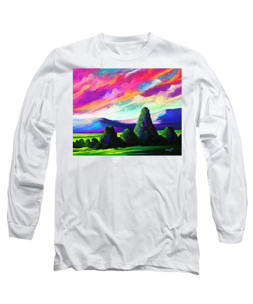 Long Sleeve T-Shirt featuring the painting From A Distance by Anthony Mwangi
