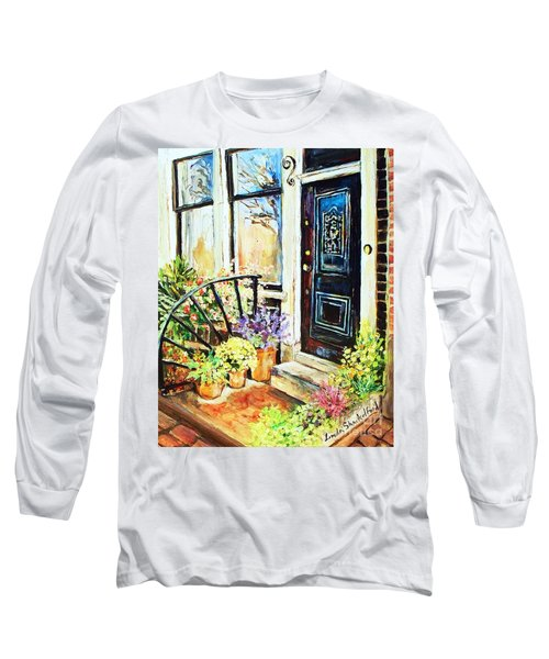 Front Porch Long Sleeve T-Shirt by Linda Shackelford