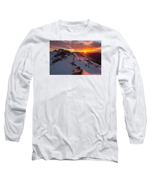 Frosty Alpine Sunset Long Sleeve T-Shirt