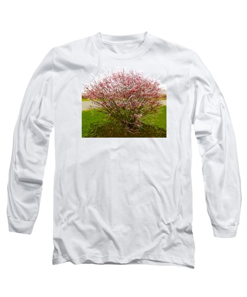 Long Sleeve T-Shirt featuring the photograph Frosty Fire Bush by Spyder Webb