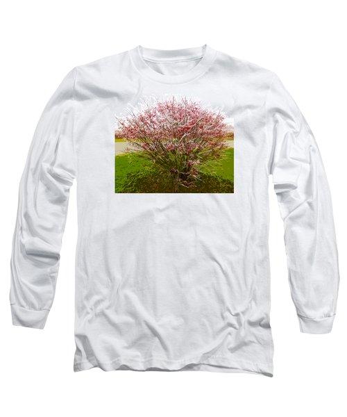 Frosty Fire Bush Long Sleeve T-Shirt