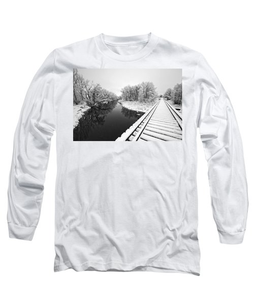 Frosty Morning On The Poudre Long Sleeve T-Shirt