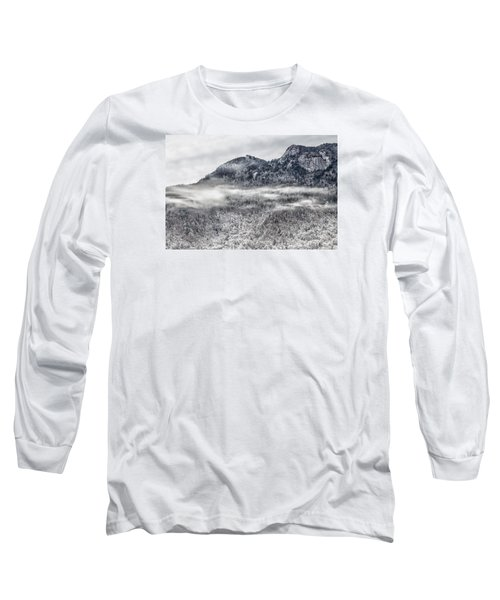 Snowy Grandfather Mountain - Blue Ridge Parkway Long Sleeve T-Shirt