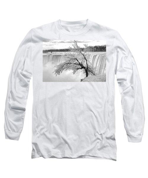 Frozen Tree Near Niagara Falls Long Sleeve T-Shirt