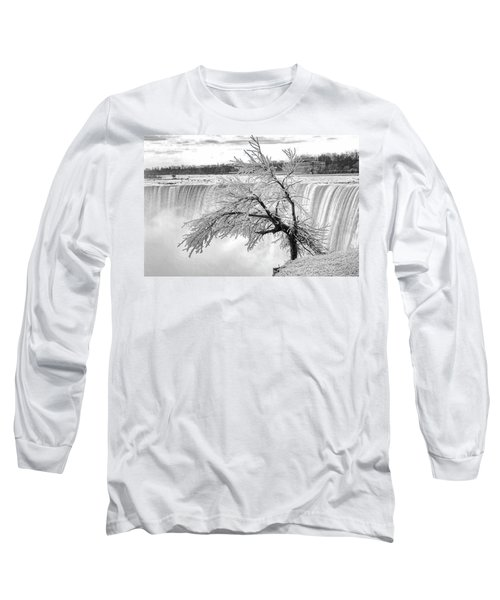 Frozen Tree Near Niagara Falls Long Sleeve T-Shirt