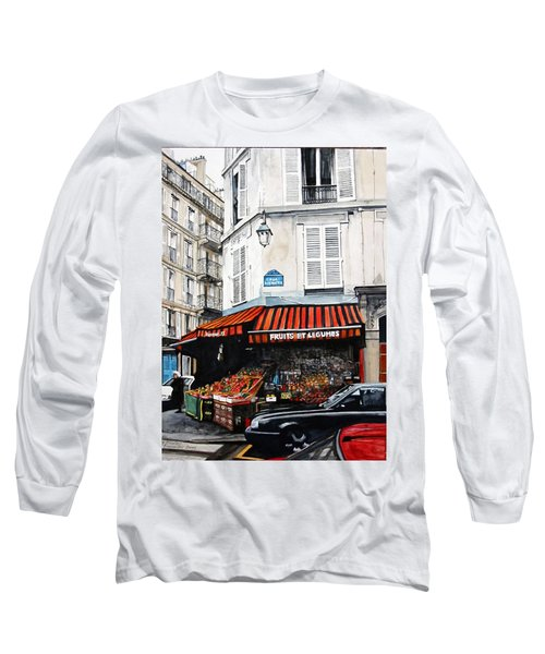 Fruits Et Legumes Long Sleeve T-Shirt by Tim Johnson