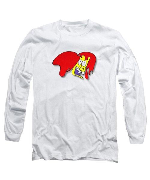 Fu Party People - Peep 002 Long Sleeve T-Shirt by Dar Freeland