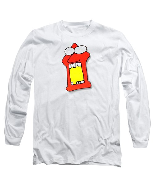 Fu Party People - Peep 104 Long Sleeve T-Shirt by Dar Freeland