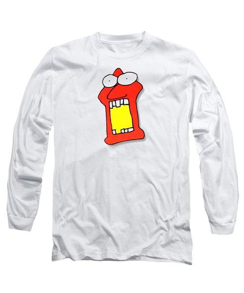 Fu Party People - Peep 104 Long Sleeve T-Shirt by Dar Freeland