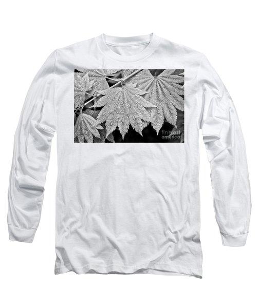 Full Moon Maple Leaf After A Spring Rain Long Sleeve T-Shirt