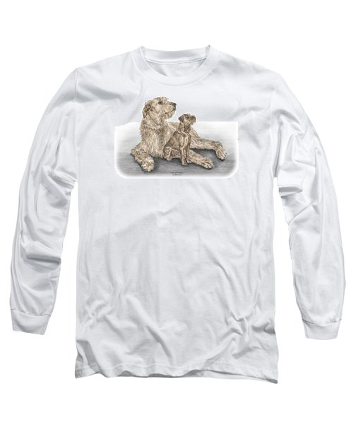Full Of Promise - Irish Wolfhound Dog Print Color Tinted Long Sleeve T-Shirt by Kelli Swan