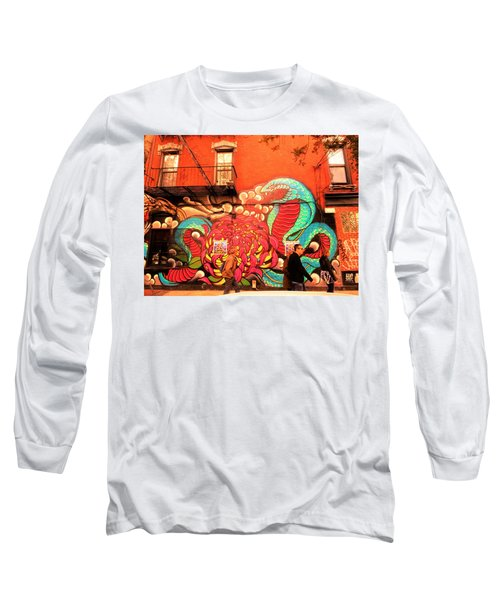 Funky Brooklyn Fire Escape  Long Sleeve T-Shirt