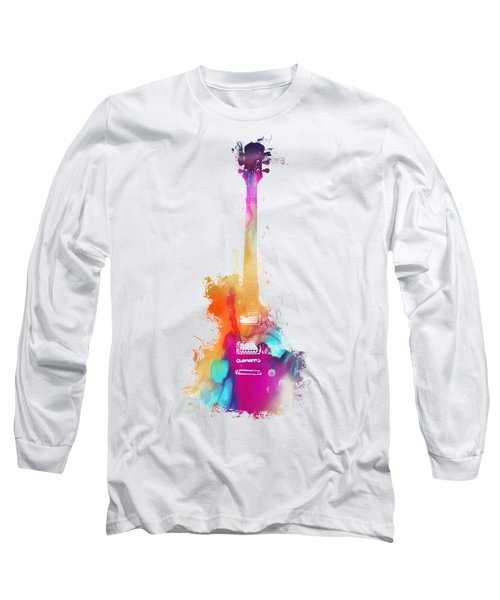 Funky Colored Guitar Long Sleeve T-Shirt