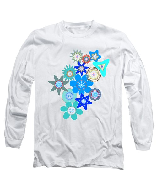 Funky Flower Pattern Long Sleeve T-Shirt by Methune Hively