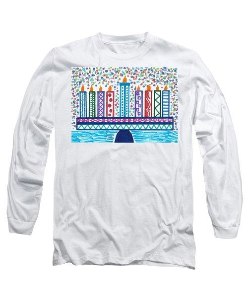Funky Menorah  Long Sleeve T-Shirt