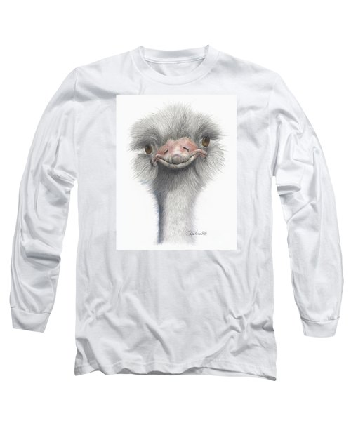 Funny Face Long Sleeve T-Shirt by Phyllis Howard