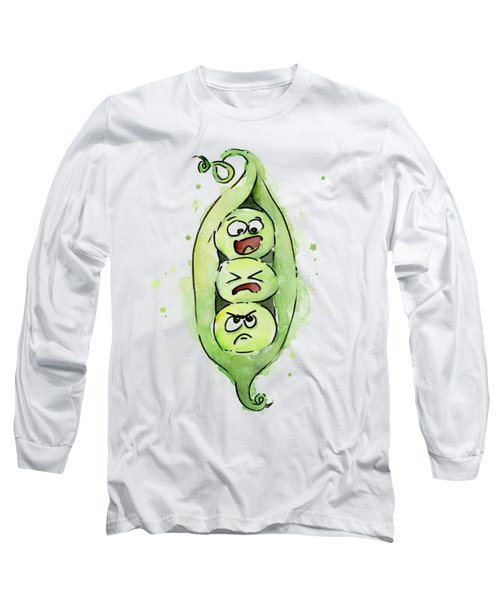 Funny Peas In A Pod Long Sleeve T-Shirt
