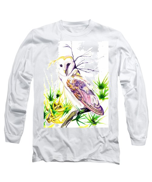 Long Sleeve T-Shirt featuring the painting Furze Wisdom by D Renee Wilson