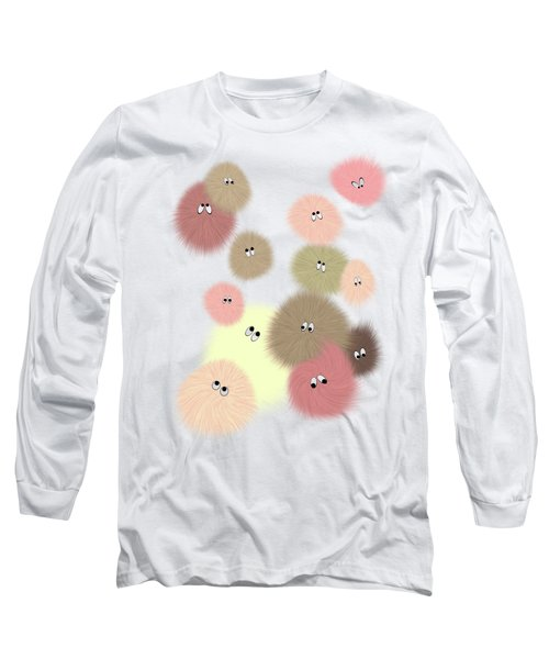 Fuzz Balls Long Sleeve T-Shirt by Methune Hively