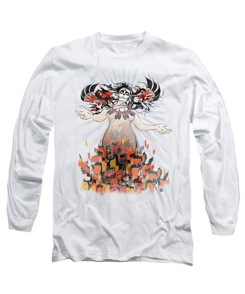 Gaia In Turmoil Long Sleeve T-Shirt by Sassan Filsoof