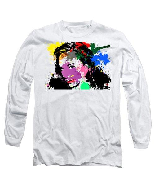 Gal Gadot Pop Art Long Sleeve T-Shirt