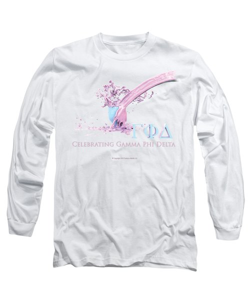 Gamma Phi Delta Splash Long Sleeve T-Shirt