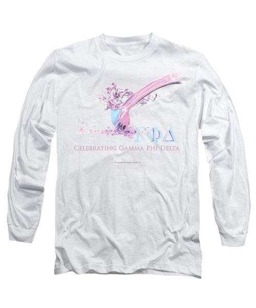 Gamma Phi Delta Splash Long Sleeve T-Shirt
