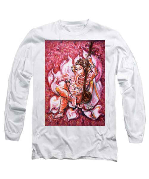 Ganesha - Enjoying Music Long Sleeve T-Shirt