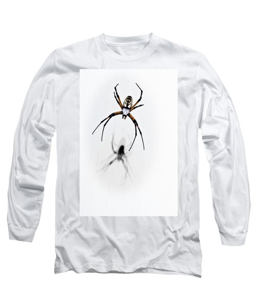 Long Sleeve T-Shirt featuring the photograph Garden Spider With Shadow by Tamyra Ayles
