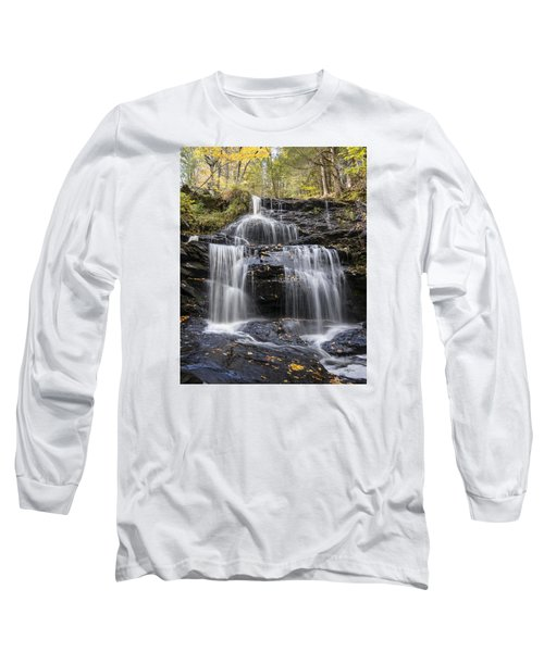Long Sleeve T-Shirt featuring the photograph Garwin Falls, Wilton, Nh by Betty Denise