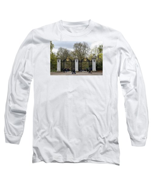 Gates To St James Park Long Sleeve T-Shirt by Shirley Mitchell