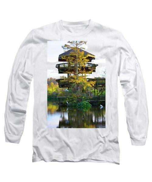 Gator Tower Long Sleeve T-Shirt by Josy Cue