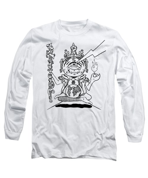 Gautama Buddha Black And White Long Sleeve T-Shirt