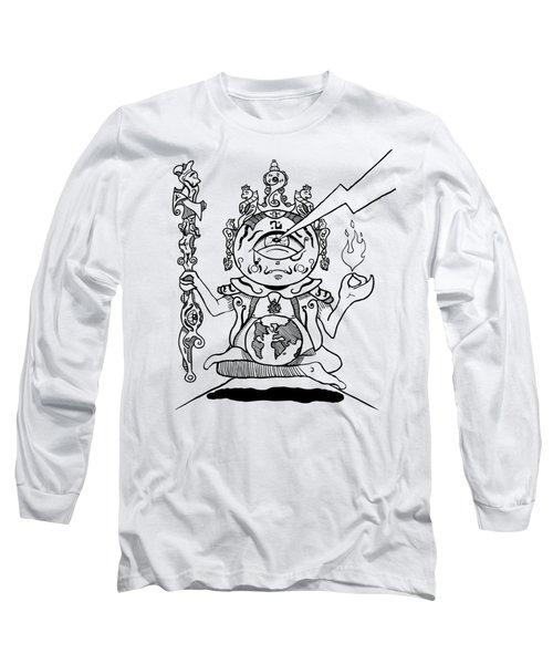 Gautama Buddha Black And White Long Sleeve T-Shirt