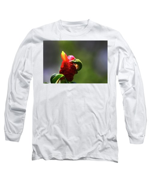Long Sleeve T-Shirt featuring the photograph Gecko #2 by Anthony Jones