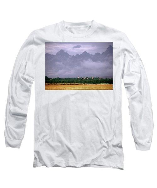Geese, Grand Tetons Long Sleeve T-Shirt